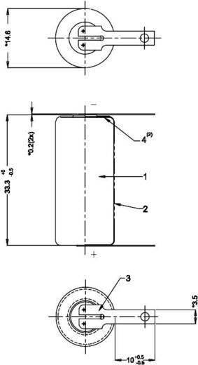 Varta CR2/3 LF Speciale batterij CR 2/3 AA LF U-soldeerlip Lithium 3 V 1350 mAh 1 stuks