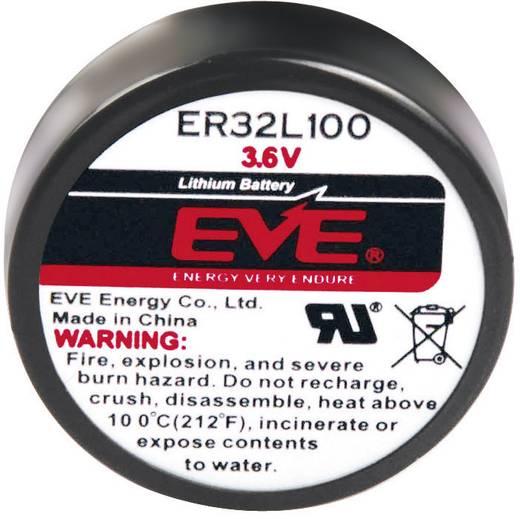 EVE 1/6 D, ER32L100 Speciale batterij 1/6 D U-soldeerpinnen Lithium 3.6 V 1700 mAh 1 stuks