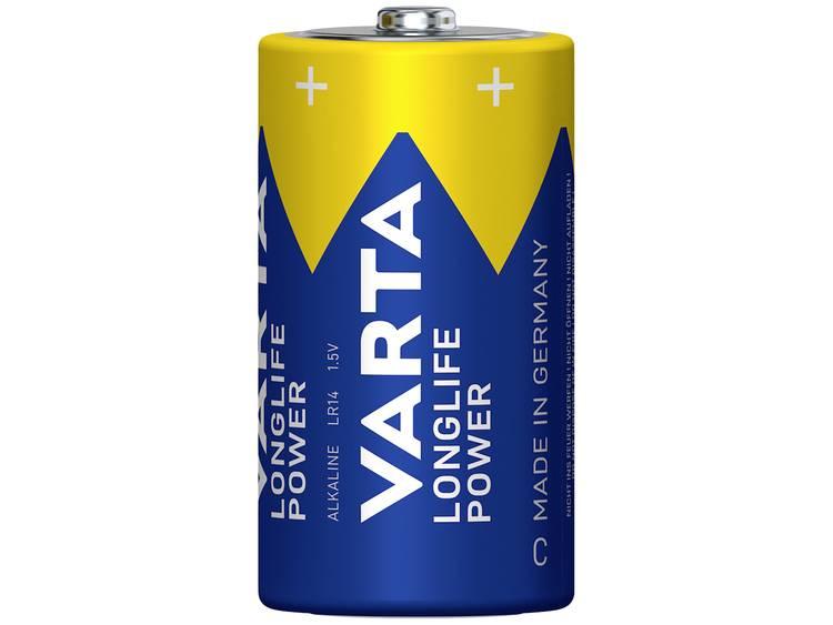 C batterij (baby) Varta Longlife Power LR14 Alkaline 1.5 V 7800 mAh 2 stuk(s)