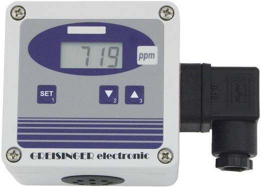 Greisinger GT10-CO2 Kooldioxide-meetomvormer, gasmeter, meetbereik 0 tot 2000 ppm CO (kooldioxide)