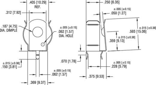 Keystone 92 Enkelvoudig contact 1 AA (penlite), A, CR 2 Doorsteekmontage THT (b x h) 12 mm x 15 mm