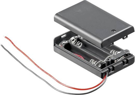 Goobay 10885 Batterijhouder 3 AAA (potlood) Kabel (l x b x h) 54.4 x 37.5 x 15.3 mm