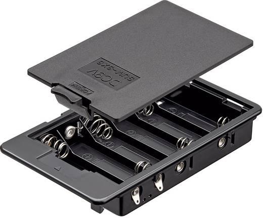 Goobay 10886 Batterijhouder 6 AA (penlite) Soldeeraansluiting (l x b x h) 114 x 65.8 x 21 mm