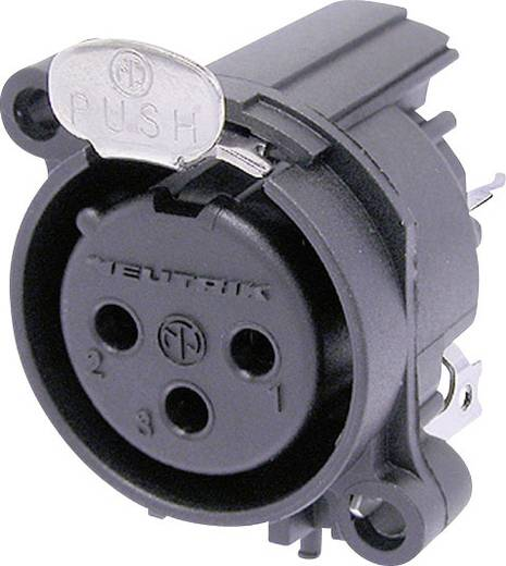 Neutrik NC3FAAV1 XLR-connector Flensbus, contacten recht Aantal polen: 3 Zwart 1 stuks