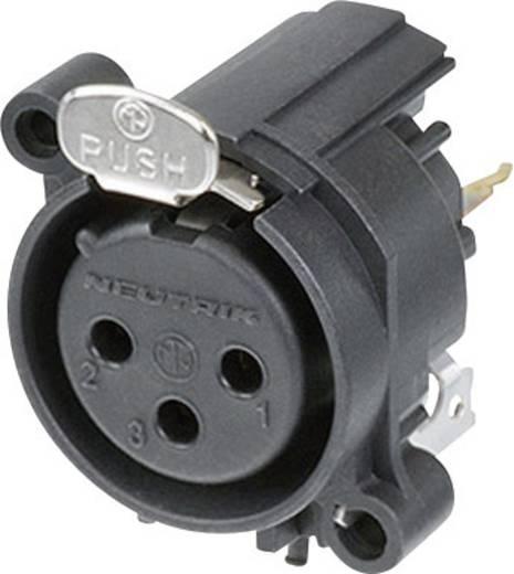 Neutrik NC3FAV1 XLR-connector Flensbus, contacten recht Aantal polen: 3 Zwart 1 stuks