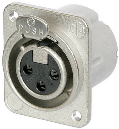 Neutrik NC3FD-LX-M3 XLR-connector Flensbus, contacten recht Aantal polen: 3 Zilver 1 stuks