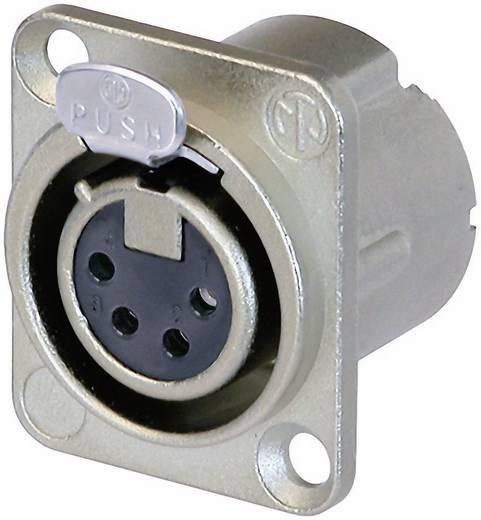 Neutrik NC4FD-LX XLR-connector Flensbus, contacten recht Aantal polen: 4 Zilver 1 stuks