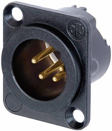 XLR-connector Flensstekker, contacten recht Neutrik NC4MD-LX-B Aantal polen: 4