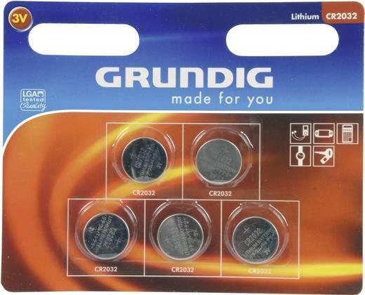 Grundig CR2032 Knoopcel Lithium 185 mAh 3 V 5 stuks