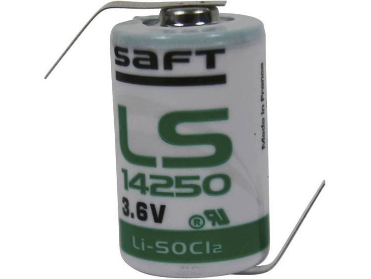 Saft 1-2 AA Lithium batterij 1200 mAh 3.6 V (� x h) 15 mm x 25 mm