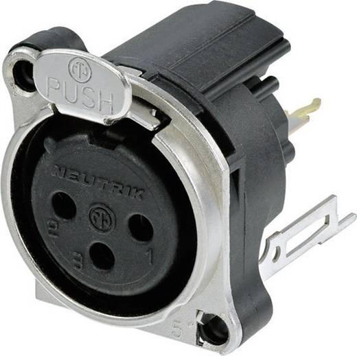 Neutrik NC3FBV2 XLR-connector Flensbus, contacten recht Aantal polen: 3 Zwart 1 stuks