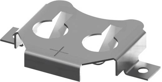 Keystone 3000 Knoopcelhouder 1 CR 1216, CR 1220 Horizontaal, Oppervlakte montage SMD (l x b x h) 18.92 x 12.07 x 3.18 mm
