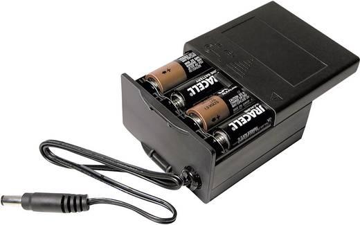 MPD BK-030 Batterijbox 8 AA (penlite) Jackplug-stekker (l x b x h) 71.8 x 65.28 x 37.08 mm