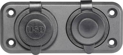 Inbouwcontact met 2 USB-aansluitingen Stroombelasting (max.): 20 A Geschikt voor (details) Standaardstekker, USB-A