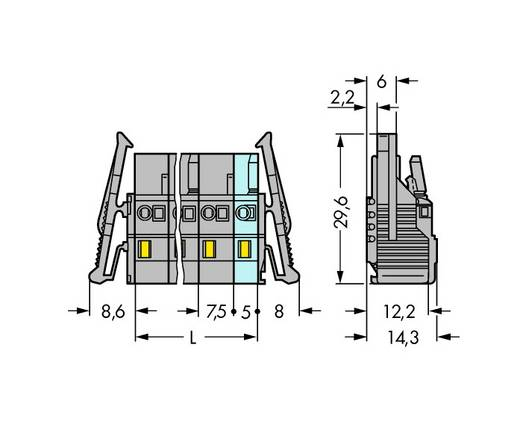 WAGO 231-216/037-000/035-000 Busbehuizing-kabel 231 Totaal aantal polen 16 Rastermaat: 7.50 mm 10 stuks
