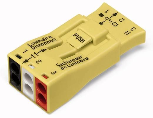 WAGO Lampklem Flexibel: - Massief: 0.75-4 mm² Aantal polen: 3 20 stuks Geel