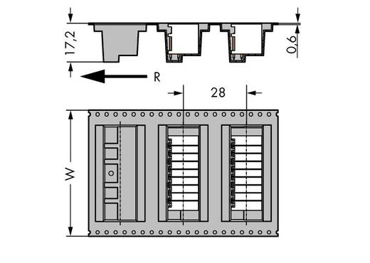 Male header (standaard) Totaal aantal polen 12 WAGO 713-142