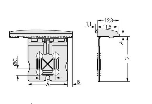 WAGO 2092-3152 Penbehuizing-board 2092 Totaal aantal polen 2 Rastermaat: 7.50 mm 100 stuks