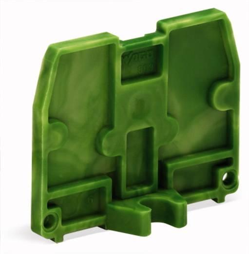 Afsluitplaat 869-399 WAGO Groen-geel 100 stuks