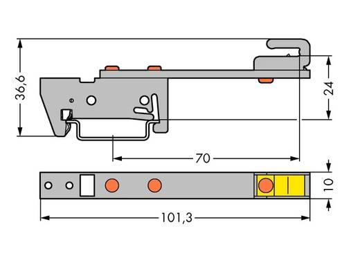 WAGO 790-300 790-300 Verzamelrailhouder 10 stuks