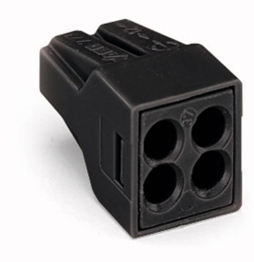 WAGO Lasklem Flexibel: - Massief: 0.75-2.5 mm² Aantal polen: 4 1000 stuks Zwart