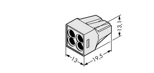 WAGO 773-494 Lasklem Flexibel: - Massief: 0.75-2.5 mm² Aantal polen: 4 1000 stuks Lichtgrijs