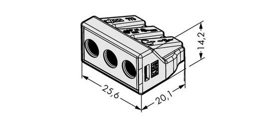 WAGO 773-493 Lasklem Flexibel: - Massief: 2.5-6 mm² Aantal polen: 3 500 stuks Lichtgrijs