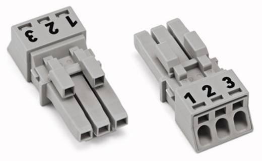 Netstekker Serie (connectoren) WINSTA MINI Bus, recht Totaal aantal polen: 3 16 A Grijs WAGO 50 stuks