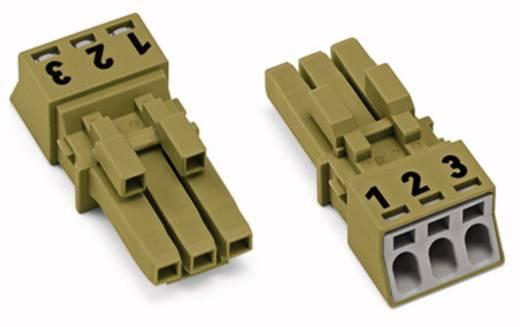 Netstekker Serie (connectoren) WINSTA MINI Bus, recht Totaal aantal polen: 3 16 A Lichtgroen WAGO 50 stuks