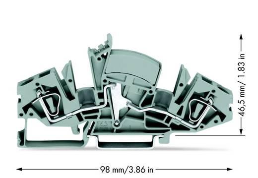 Doorgangsklem 8 mm Veerklem Toewijzing: L Grijs WAGO 282-841/049-000 20 stuks