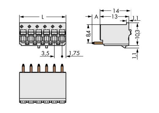 Penbehuizing-board 2091 Totaal aantal polen 2 WAGO 2091-1172/200-000 Rastermaat: 3.50 mm 200 stuks
