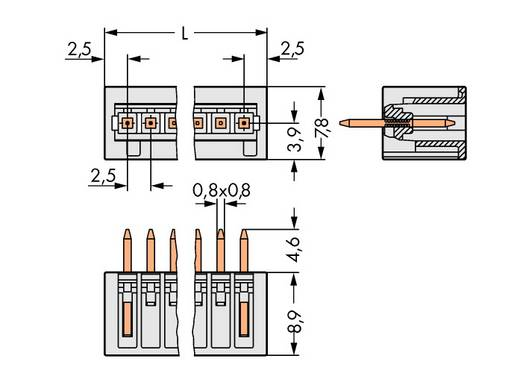 Penbehuizing-kabel Totaal aantal polen 6 WAGO 733-336