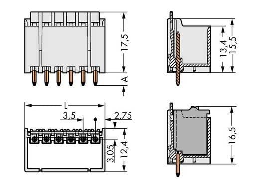 WAGO 2091-1404/200-000 Penbehuizing-board 2091 Totaal aantal polen 4 Rastermaat: 3.50 mm 200 stuks