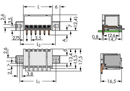Penbehuizing-board 2091 Totaal aantal polen 2 WAGO 2091-1422/005-000 Rastermaat: 3.50 mm 200 stuks