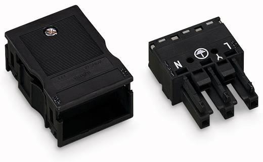 Netstekker Serie (connectoren) WINSTA MIDI Bus, recht Totaal aantal polen: 3 25 A Zwart WAGO 25 stuks