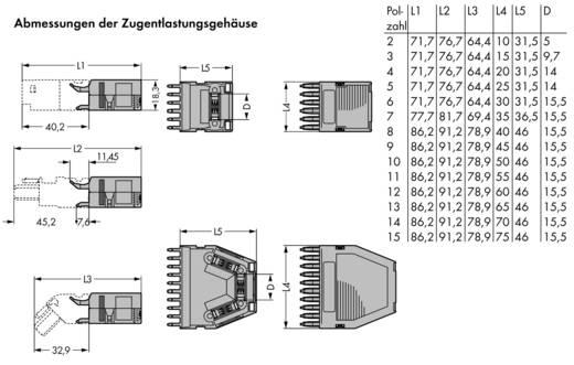 WAGO 769-1606 Vastklikbare trekontlastingsbehuizing 25 stuks