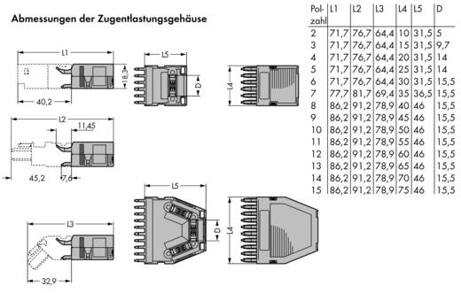 WAGO 769-1615 769-1615 Vastklikbare trekontlastingsbehuizing 25 stuks