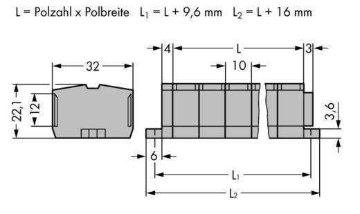 Klemstrook 10 mm Veerklem Toewijzing: L Grijs WAGO 264-206 50 stuks