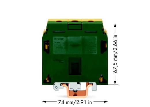 Aardingsklem 22 mm Schroeven Toewijzing: Terre Groen-geel WAGO 400-499/499-024 10 stuks