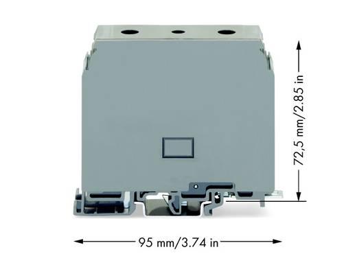 Doorgangsklem 26 mm Schroeven Toewijzing: L Grijs WAGO 400-415/415-556 10 stuks