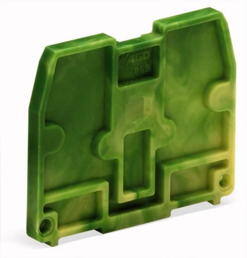 Afsluitplaat 869-379 WAGO Groen-geel 100 stuks