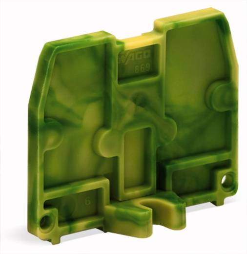 Afsluitplaat 869-389 WAGO Groen-geel 100 stuks