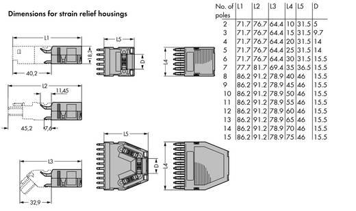WAGO 769-1603 769-1603 Vastklikbare trekontlastingsbehuizing 25 stuks