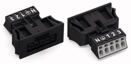 Netstekker Serie (connectoren) WINSTA MINI Bus, recht Totaal aantal polen: 5 13 A Zwart WAGO 50 stuks