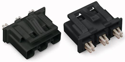 Netstekker Serie (connectoren) WINSTA MIDI Stekker, recht Totaal aantal polen: 3 25 A Zwart WAGO 100 stuks