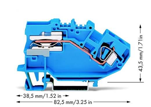 Scheidingsklem 8 mm Veerklem Toewijzing: N Blauw WAGO 782-613 25 stuks