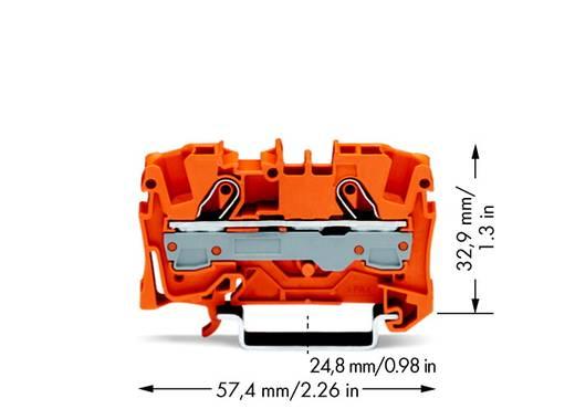 Doorgangsklem 7.50 mm Veerklem Oranje WAGO 2006-1202 50 stuks