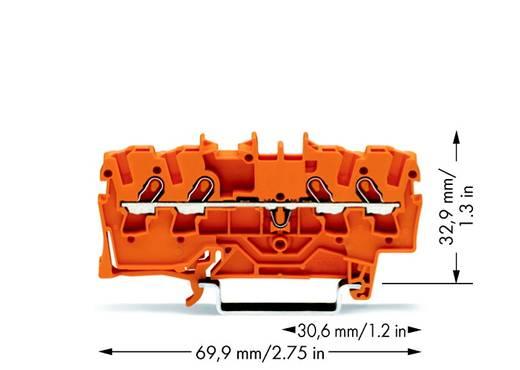 Doorgangsklem 4.20 mm Veerklem Oranje WAGO 2001-1402 100 stuks