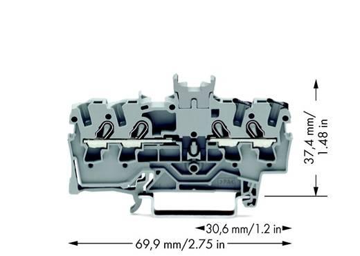 Doorgangsklem 4.20 mm Veerklem Toewijzing: L Grijs WAGO 2001-1441 100 stuks