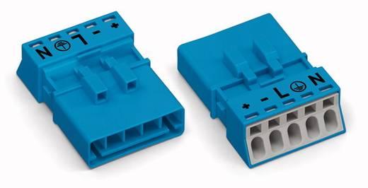Netstekker Serie (connectoren) WINSTA MINI Stekker, recht Totaal aantal polen: 5 16 A Blauw WAGO 50 stuks